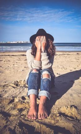 fear sad girl
